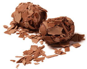 milk flake truffle
